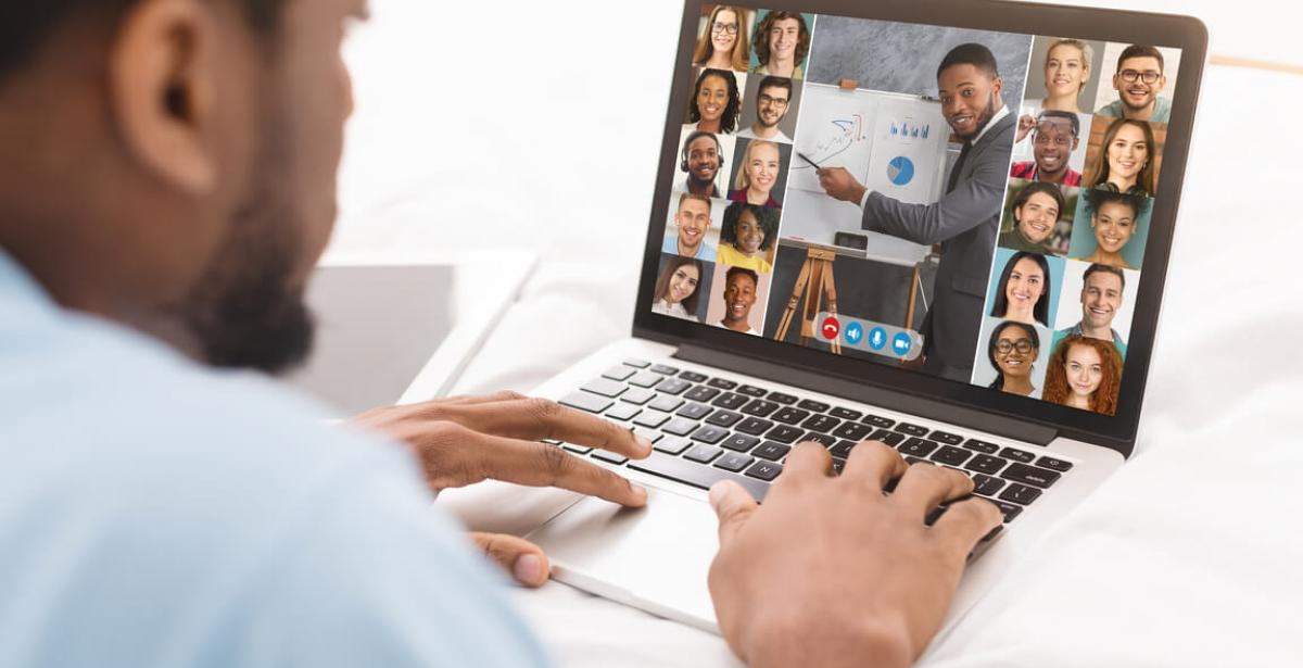 Web Conference With Group Of Business People